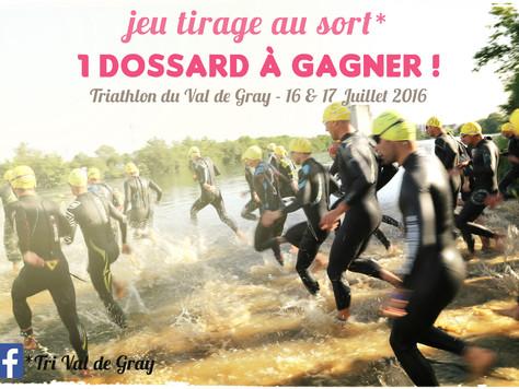 Gagnez votre Dossard pour le Triathlon du Val de Gray