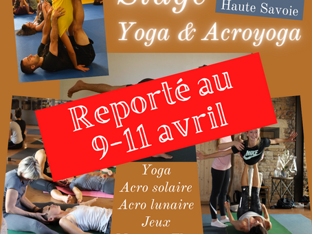 Stage de yoga & acroyoga 9-11 avril