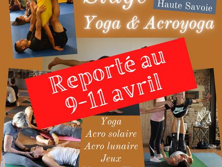 Stage de yoga & acroyoga 9-11 avril