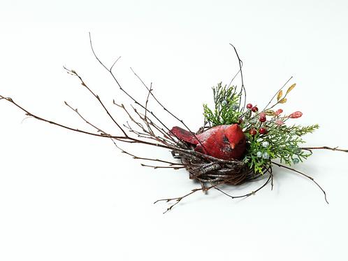 """2"""" Christmas Cardinal Wreath"""