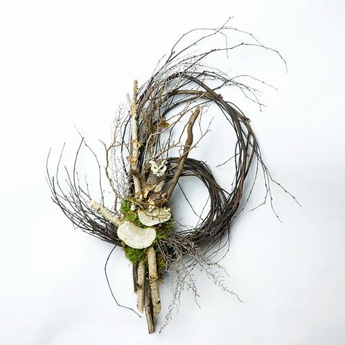 "12"" Winter Owl Wreath"