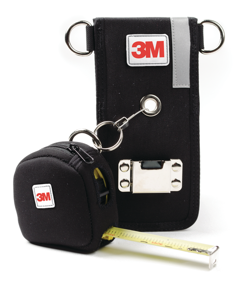Holster with Retractor & Medium Tape Measure Sleeve Combo