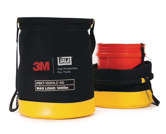 5 Gallon Safe Bucket 100 lb. Load Rated Hook and Loop Canvas