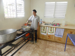 Kitchen at serves 750 kingdom kids