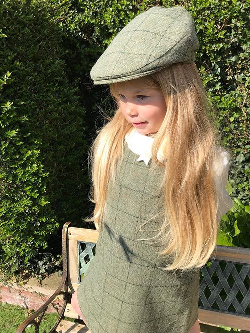 Heath Evergreen 100% British Wool Tweed Flat Cap