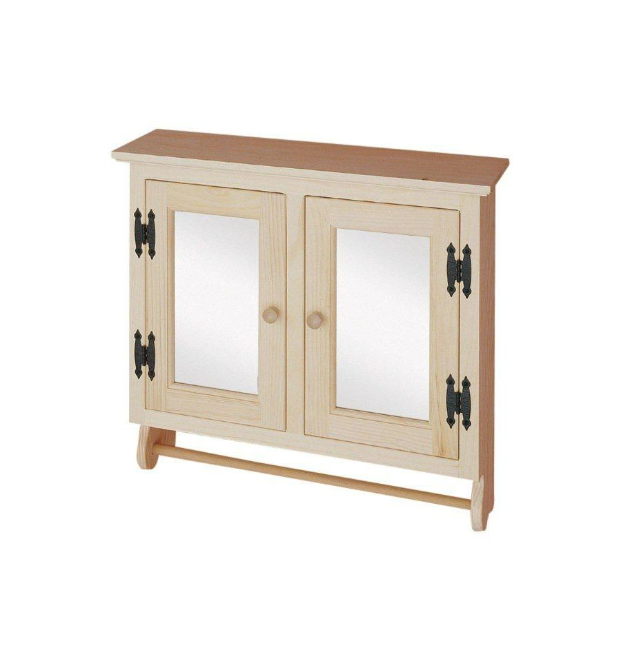 2 Door Wall Cabinet w/Mirror $99