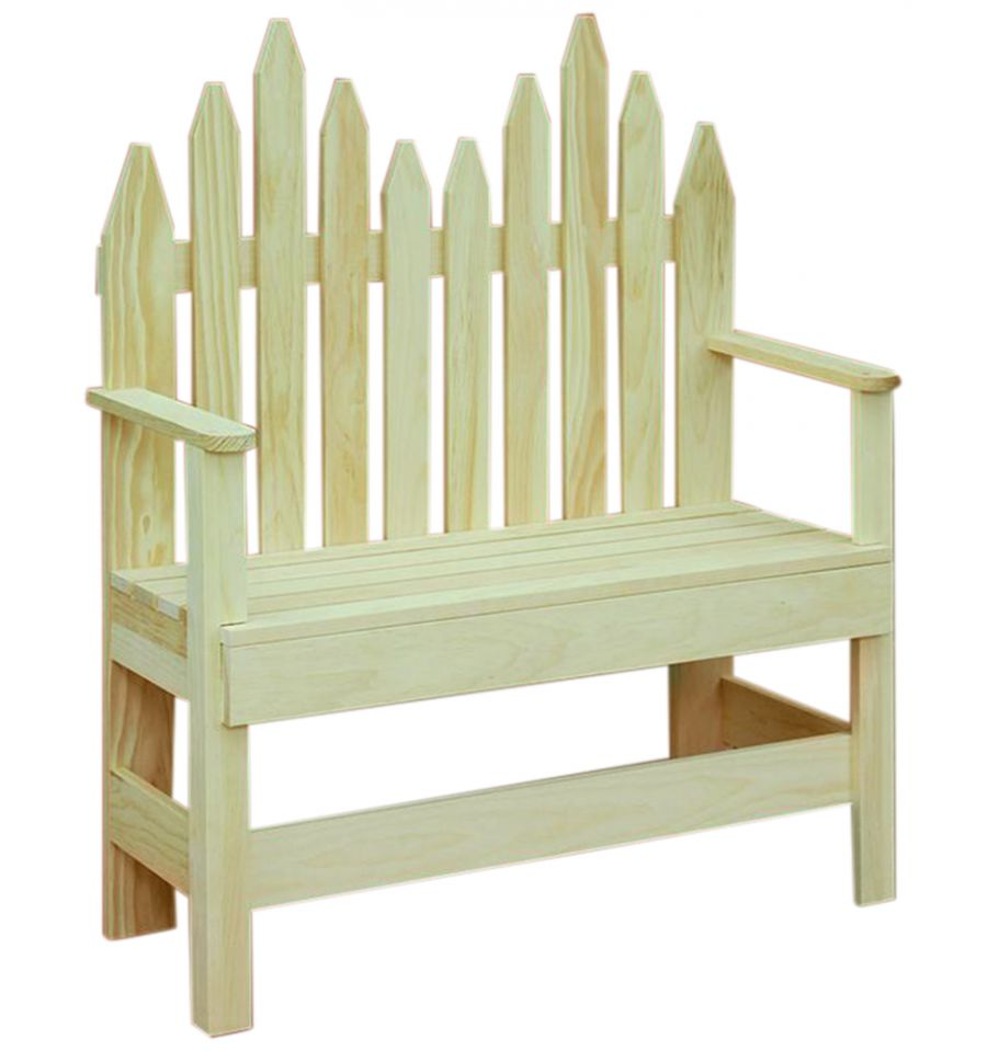 Decorative Picket Bench $97