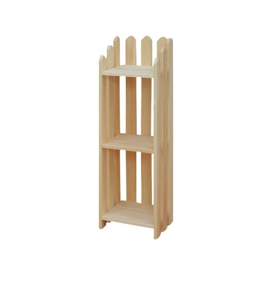 3 Shelf Narrow Picket Bookshelf $77