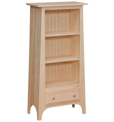Slant Bookshelf w/Drawer $168