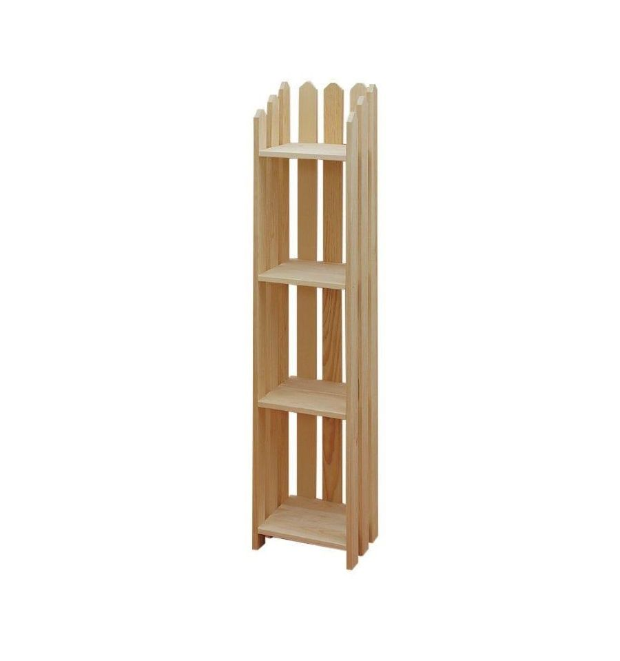 4 Shelf Narrow Picket Bookcase $92