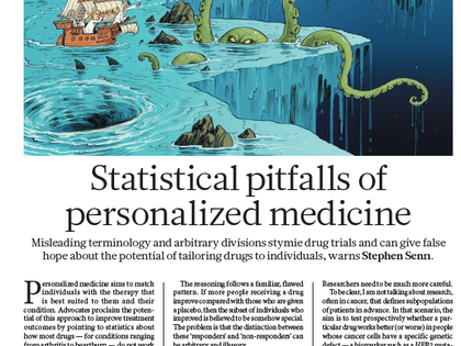 Statistical pitfalls of personalized medicine