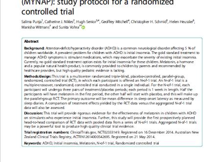 Melatonin in Youth: N-of-1 trials in a stimulant-treated ADHD Population (MYNAP): study protocol