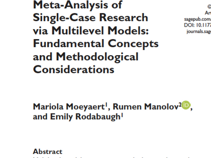 Meta-Analysis of Single-Case Research via Multilevel Models
