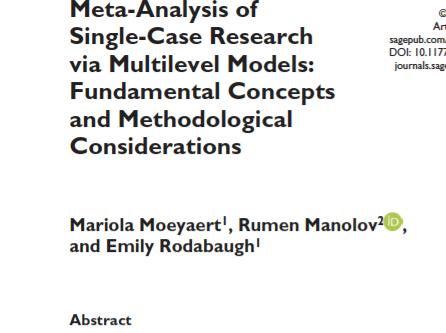Meta-Analysis of Single-Case Research via Multilevel Models