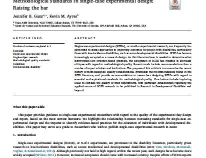 Methodological standards in single-case experimental design: Raising the bar