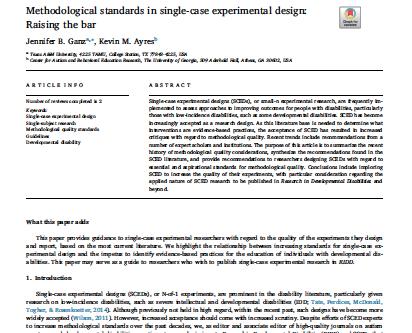 Methodological standards in single-case experimental design: Raising the bar