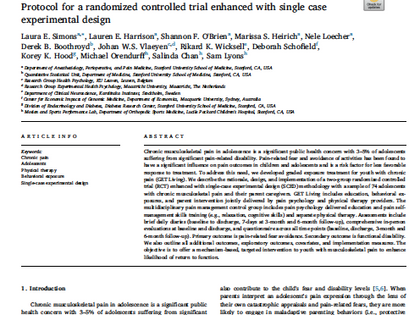Protocol for a Randomized Controlled Trial Enhanced with Single-Case Experimental Design