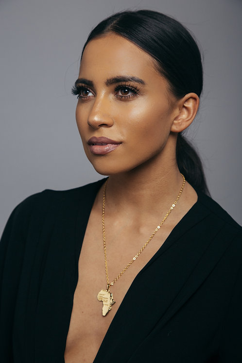 I love Africa necklace - Gold