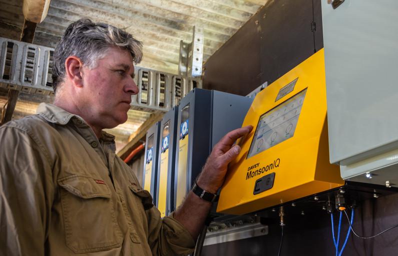 Rob Sutherland using the MonsoonIQ's Control Panel