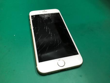 iPhone6ガラス割れ修理。キャンペーン料金8800円!