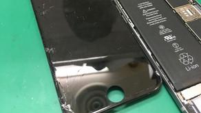 iPhone6sガラス割れを即日、40分で修理致します!