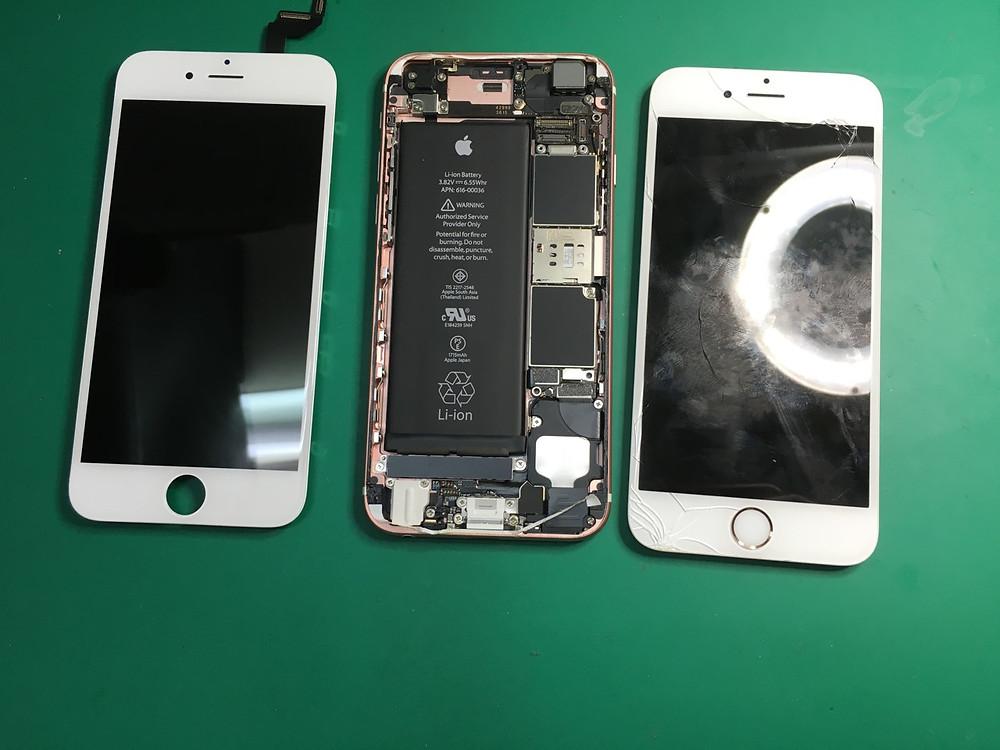 大阪の梅田でiPhone6sガラス割れ修理。