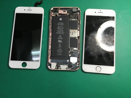 大阪の梅田でiPhone6sのガラス割れ修理。