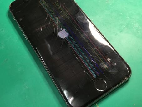 画面故障修理。画面が見えなくタッチも出来ないiPhone6sの修理。