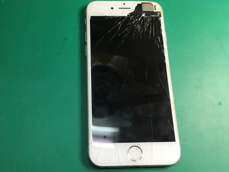 iPhone6ガラス割れ修理キャンペーン8800円で40分で完了!