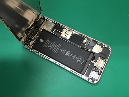iPhone6水没修理。データを残したまま修理する。