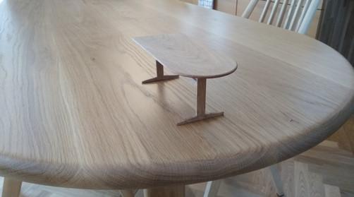 H様邸 ダイニングテーブル 材料:ホワイトオーク 長さ180cm 奥行80cm 高さ70cm
