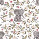 Tissu créateur Eléphant Plume