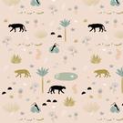Tissu créateur Jungle Minimel