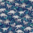 Tissu créateur Jungle des dinosaures