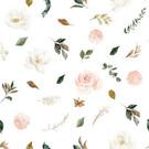 Tissu créateur romantique Magnolia