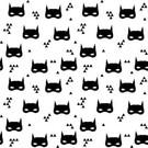 Tissu créateur Batmask noir et blanc