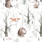 Tissu créateur Forêt scandinave