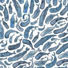 Tissu créateur baleines bleues