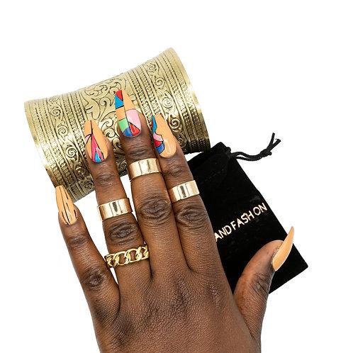 RING ACCESSORIES - gold plain set