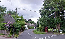 thurxton Village with old telephone box