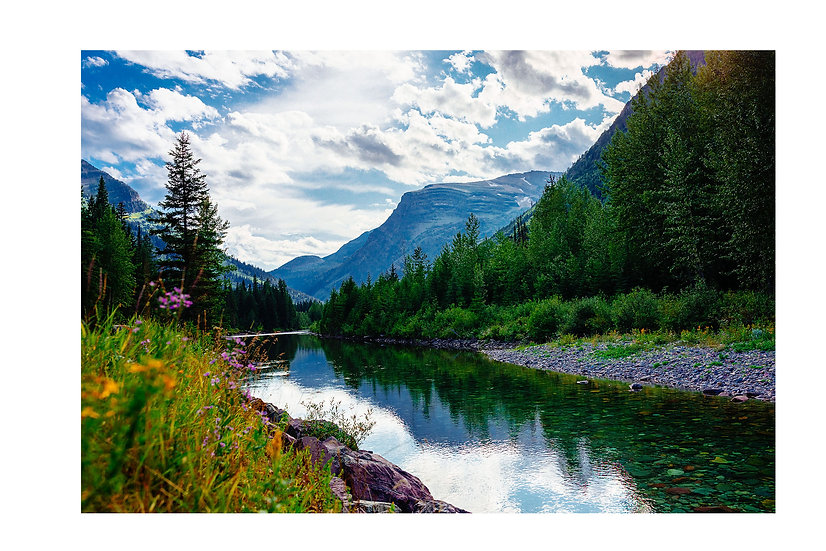 The Colors of Summertime in Glacier National Park Fine Art Print