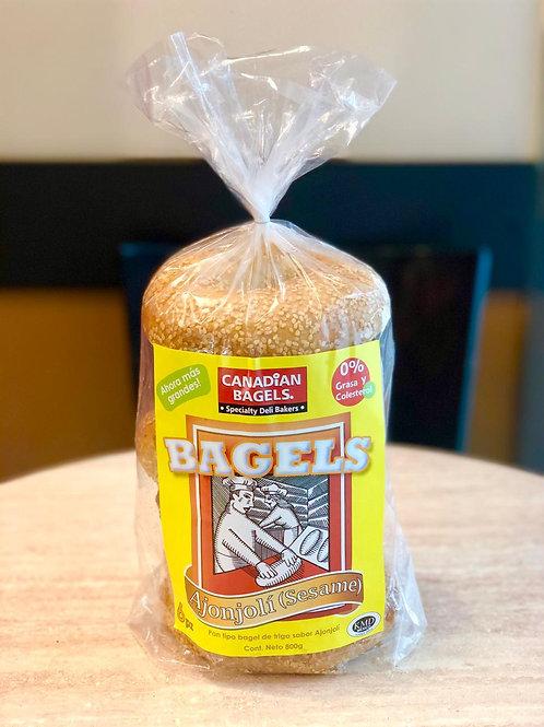 Canadian Bagels Ajonjolí 6pz 800grs