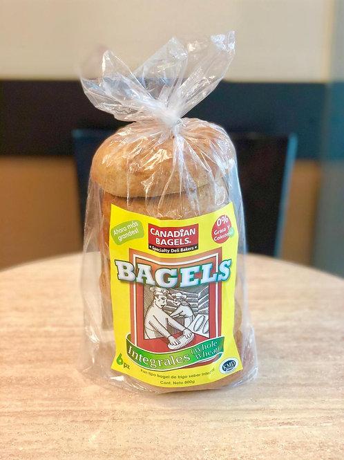 Canadian Bagels Integrales 6pz 800grs