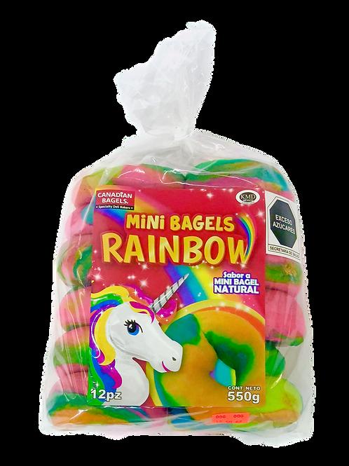 Mini Bagels Rainbow Naturales 12pz 550grs