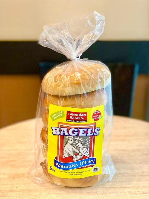 Canadian Bagels Naturales 6pz 800gr