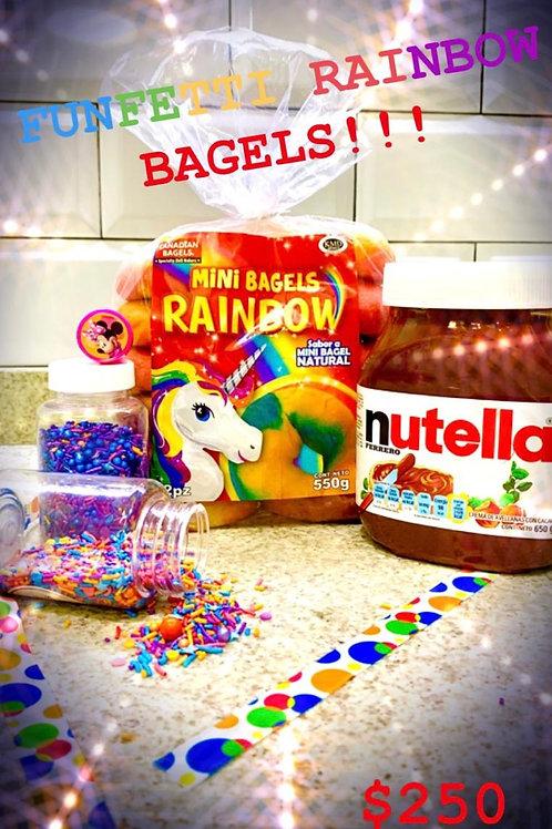 Funfetti Rainbow Bagels