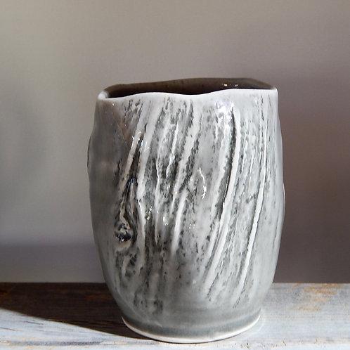 Grey Clear Glaze Wine Tumbler Porcelain