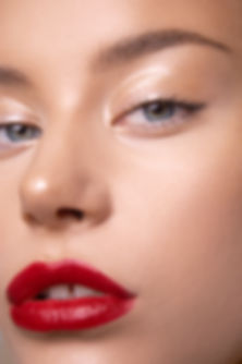 Glam red lip natural makeup Hobart