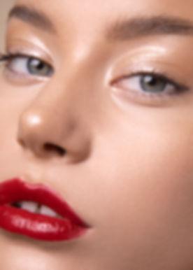 Red lipstck natural makeup look by Sophie McDermott Hobart Makeup Artist