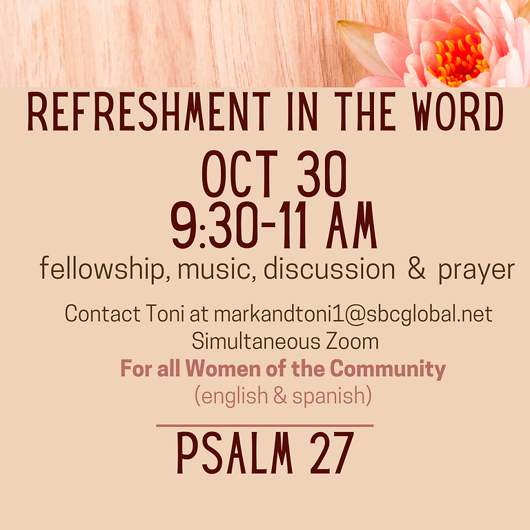 Refreshment in the Word